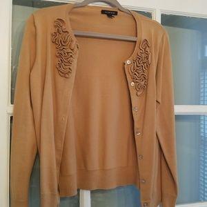 Camel colored cardigan sweater
